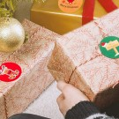 2Rolls 1000pcs Christmas Gift Tag Sticker Adhesive Tag Label Stickers
