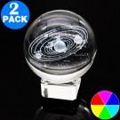 2 X 3D Transparent Ball incl. Stand Christmas Gift Idea