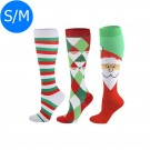 3 X Christmas Themed Knee-Length Compression Socks S M Style 1 2 4