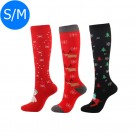 3 X Christmas Themed Knee-Length Compression Socks S M Style 3 5 6