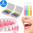 60 Pieces Telescopic Interdental Brushes Oral Care Kit