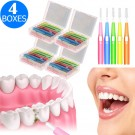 120 Pieces Telescopic Interdental Brushes Oral Care Kit