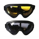 Two Pairs of Outdoor  Anti Fog Snow Goggles-Yellow and Grey