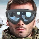 Two Pairs of Outdoor  Anti Fog Snow Goggles-Transparent and Blue