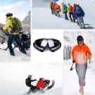 One Pair of Outdoor Ski Goggles-Black