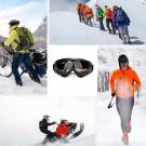 One Pair of Outdoor Ski Goggles-Marron