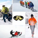 One Pair of Outdoor Ski Goggles-Yellow