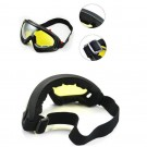 Two Pairs of Outdoor Ski Goggles-Yellow and Marron