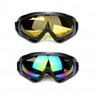 Two Pairs of Outdoor Ski Goggles-Colour mixture and Yellow