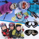 Two Pairs of Outdoor Ski Goggles-Marron and Black