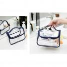 Makeup Clear Cosmetic Bag-Dark blue