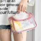 Makeup Clear Cosmetic Bag-Pink