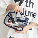 2X Black Blue Transparen Travel Clear Cosmetic Bag Makeup Brushes Storage Bag
