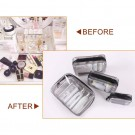 8 X Clear Cosmetic Toiletry Bags Storage Bags Travel Makeup Brushes Organizers