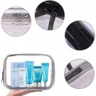 4 X Clear Cosmetic Toiletry Bags Storage Bags Travel Makeup Brushes Organizers