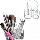 2 X 3 Compartment Makeup Organizer Makeup Brushes Stand Transparent Home Decor