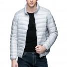 Mens Stand-up Collar Jacket K-6006 Lightgrey