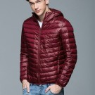 Mens Hooded Warm Jacket K-6007 Winered