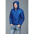 Mens Hooded Warm Jacket K-6007 Royalblue
