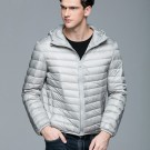 Mens Hooded Warm Jacket K-6007 Lightgrey