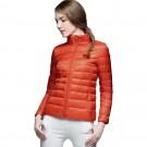 Womens Stand-up Collar Jacket K-6002 Orange