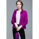Womens Stand-up Collar Jacket K-6002 Purple