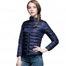 Womens Stand-up Collar Jacket K-6002 Navy