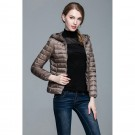 Womens Hooded Warm Jacket K-6003 Camel