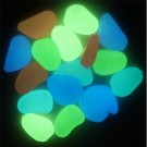 100Pcs Glow-in-the-Dark Pebbles Colourful