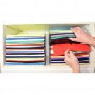 Two Pack 34.5x29.5x6.5cm Closet Organizer and Shirt Folder