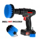 3PCS Universal Drill Power Heavy Duty Brush Cleaning Set Blue
