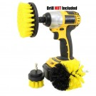 3PCS Universal Drill Power Heavy Duty Brush Cleaning Set Yellow