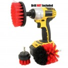 6PCS Universal Drill Power Heavy Duty Brush Cleaning Set Yellow Red