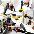 6PCS Universal Drill Power Heavy Duty Brush Cleaning Set Yellow Blue