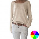 Women Casual Loose Fit Top Comfy Blouse