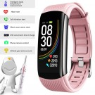 C6T Smart Watch Sports Bracelet Body Temperature Heart Rate Blood Oxygen Blood Pressure Monitor Pink