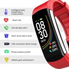 C6T Smart Watch Sports Bracelet Body Temperature Heart Rate Blood Oxygen Blood Pressure Monitor Red