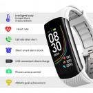 C6T Smart Watch Sports Bracelet Body Temperature Heart Rate Blood Oxygen Blood Pressure Monitor White