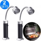 2 X 2PCS 9LED Barbecue Grill Lights with Magnetic Base Sets