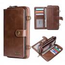 iPhone Phone Case Magenatic Detachable Wallet Case Zipper Purse with Shoulder Strap