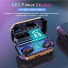 M12 TWS 5.0 Wireless Bluetooth Earbuds with LED Display Charging Case and Flashlight