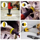37 Pieces Drill Brush Attachments Set Cleaning Sponge Scrub Pads