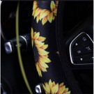 12PCS Sunflower Printed Design Car Seat Cover Washable Protector Set Style 1