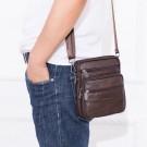 2 In 1 Men Genuine Leather Shoulder Bag Waist Purse Casual Crossbody Bag Style 1