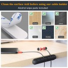 3 Pack Multi Slots Self Adhesive Silicone Cable Holder Cord Clip Cable Management Solution Wire Organizer Same Size