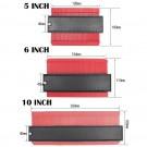 3 Pack 5 Inch 6 Incn 10 Inch Contour Gauge Gauge Shape Duplicator Irregular Shapes Template Measuring Tool Ruler Red
