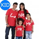 Love Me Printed Short Sleeve Family Matching Clothes T Shirt for Kids