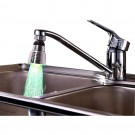 2 X Kitchen 360 Degree Swivel 3 Colours Temperature Sensitive Sink Water Faucet with LED Light Style 1 nad Style 2