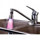 2 X Kitchen 360 Degree Swivel 3 Colours Temperature Sensitive Sink Water Faucet with LED Light Style 1