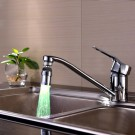 Kitchen 360 Degree Swivel 3 Colours Temperature Sensitive Sink Water Faucet with LED Light Style 2